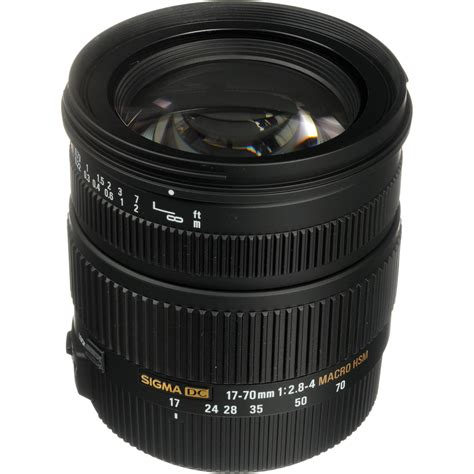 Sigma 17 70mm F2 8 4 Dc Macro Os Hsm sigma 17 70mm f 2 8 4 dc macro os hsm lens for canon 668101 b h