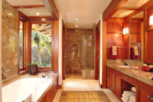 Master bath tropical bathroom hawaii by saint dizier design