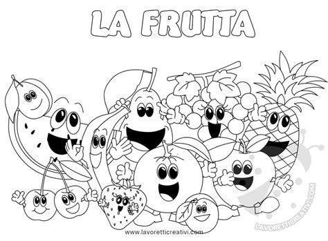 disegni da colorare fiori e frutta frutta disegni da colorare per bambini lavoretti creativi