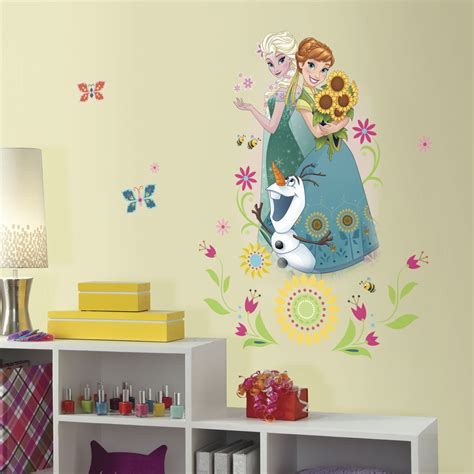 disney bedroom wall stickers disney frozen fever wall stickers mural 6 decals anna elsa