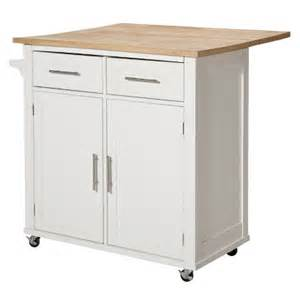White Kitchen Island With Drop Leaf threshold kitchen island target