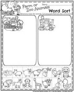 preschool worksheets planning playtime