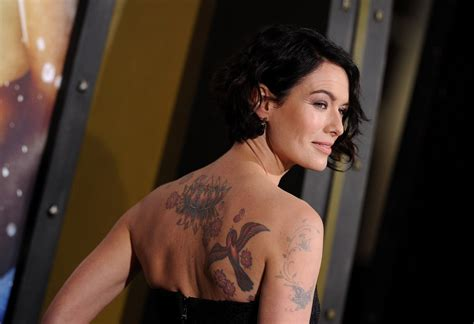 lena headey bird tattoo body art lookbook stylebistro