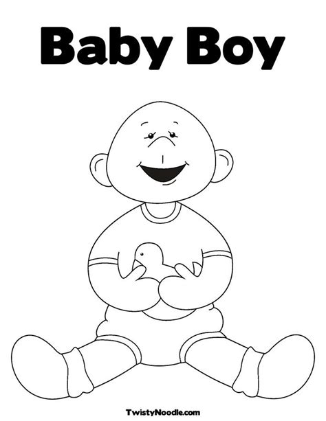 coloring page of baby boy free coloring pages of baby boy