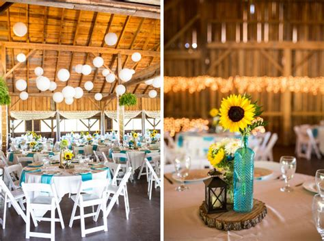 Turquoise amp sunflowers rustic wedding at betsy s barn wedding colors