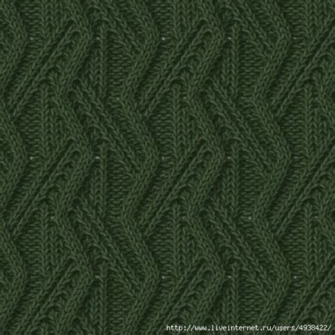 zig zag cable pattern vertical cables zig zag knit stitch knitting kingdom