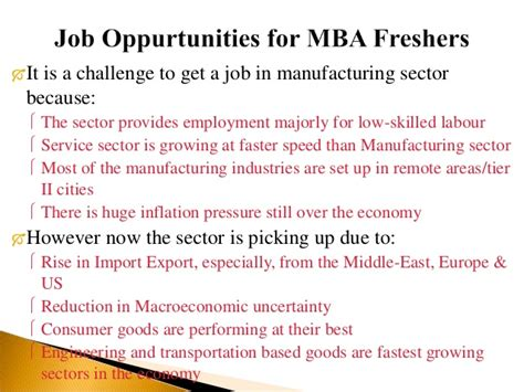 Export Import For Mba Freshers by Indian Manufacturing Sector