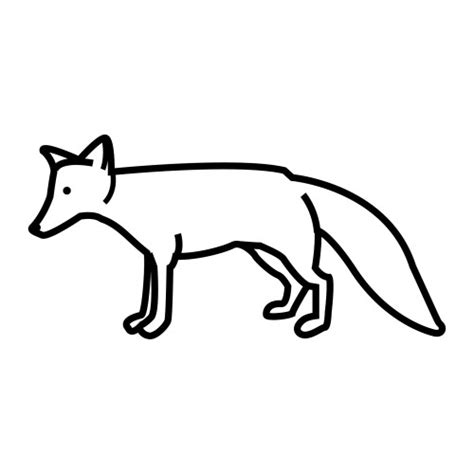 dibujos para colorear zorro un zorro para dibujar imagui