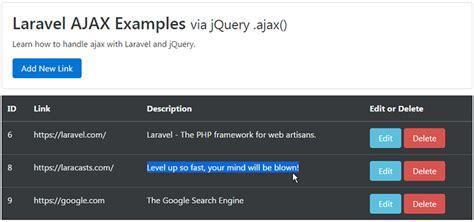 laravel update tutorial laravel ajax crud tutorial web development tutorials