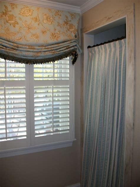 shower curtain window treatment custom shade and shower curtain window