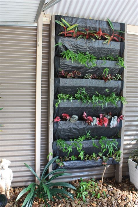 Vertical Garden Frames Diy Vertical Garden Frame Made From Timber Slats Covered