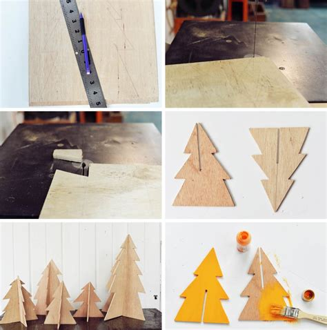 diy wood decor diy modern wooden trees