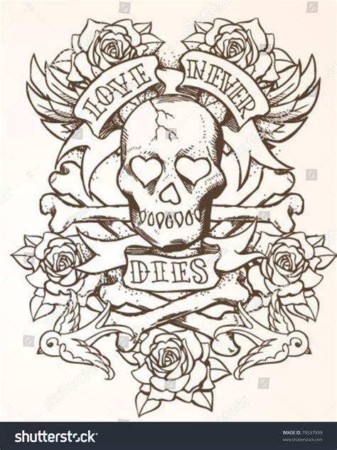 multiple skull tattoo designs skull design stock vector illustration 79537939