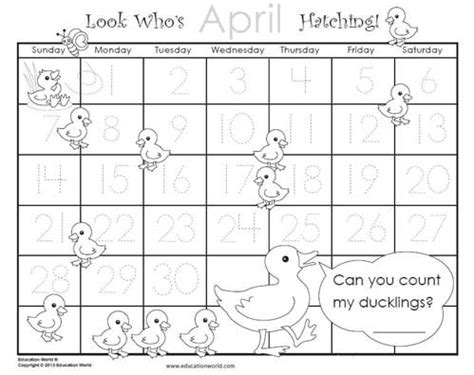 printable calendar education world april 2013 traceable calendar education world