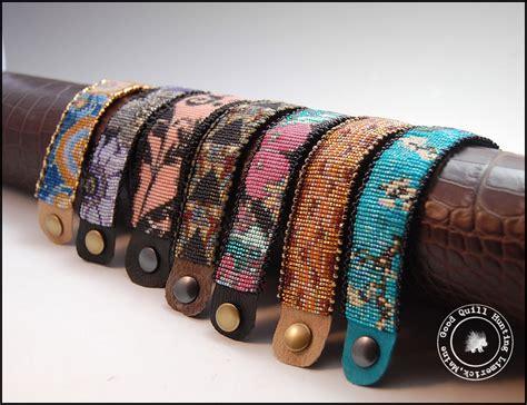beading on a loom mirrix loom bracelets completed loom bracelets quill