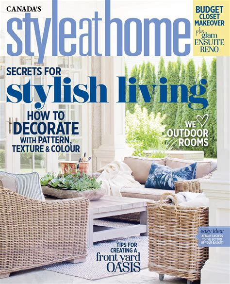 canada style at home magazine home design and style magazine style at home june 2016 canada read online