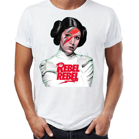 princess leia bowie wars rebel unisex t shirt ebay
