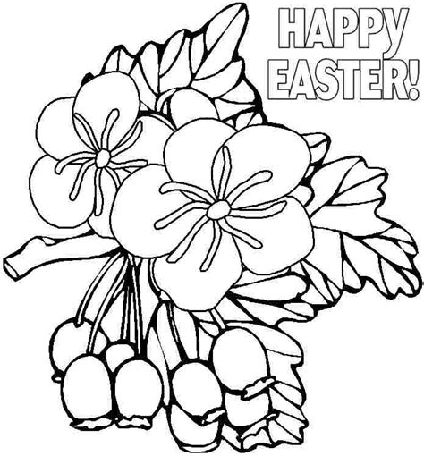 free coloring pages of easter flowers easter flower coloring pages az coloring pages
