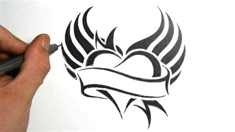 tribal heart with wings tattoo tribal designs fantastic