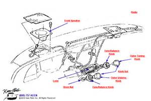 1977 corvette radio front speakers parts parts accessories for corvettes