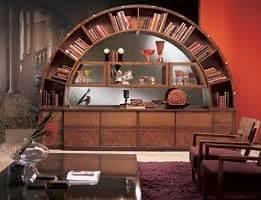 libreria ad arco libreria vetrina classica intarsiata ad arco idfdesign