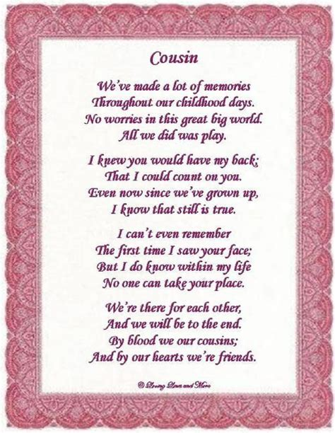 Birthday Quotes For Cousins Cousins Poem And Cousin Sayings On Pinterest