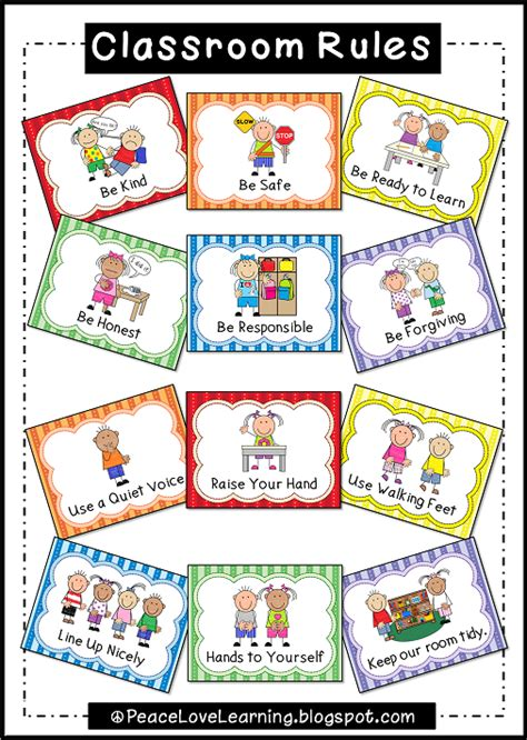 printable instructions classroom peace love and learning picture this