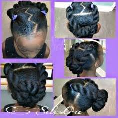 chunky piecy hair stes natural hairstyle protective style for kids natural