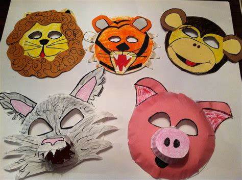 How To Make Paper Masks - how to make animal mask for simple craft ideas