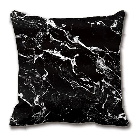 black patterned cushions black and white modern marble pattern cushions decorative