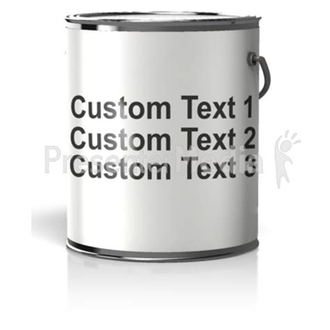Paint Can Blank Label Text Business And Finance Great Clipart For Presentations Www Paint Can Label Template