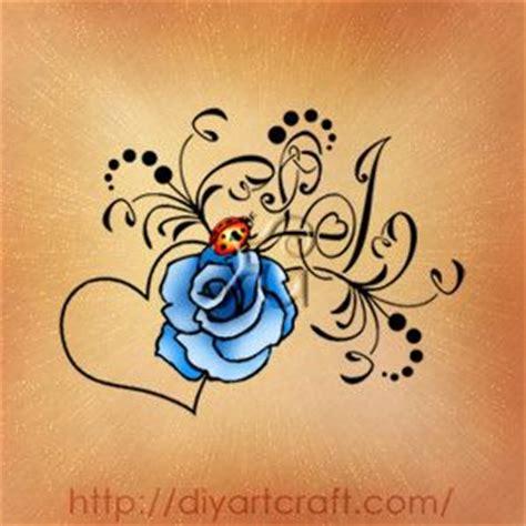 rose and ladybug tattoo monogram lj ladybug