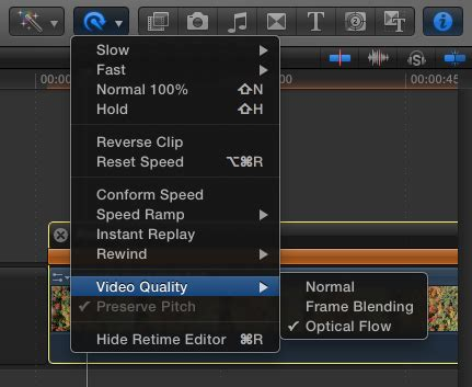 final cut pro optical flow using optical flow to slow down footage in fcp x
