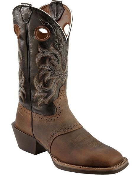 justin boots square toe justin s punchy stede cowboy boot square toe ebay