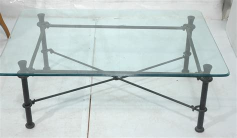 coffee table wrought iron and glass coffee table home