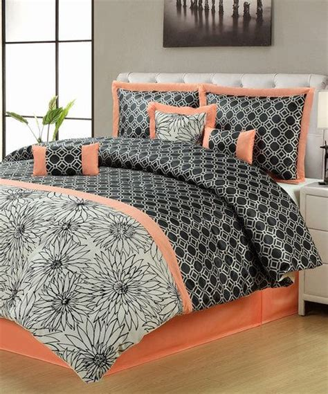 salmon bedding salmon black montreal comforter set wish list fun