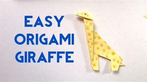 Easy Origami Giraffe - how to make origami giraffe easy tutorial for beginners