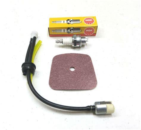 oem mantis 7222 service kit fuel filter line grommet air filter spark ebay