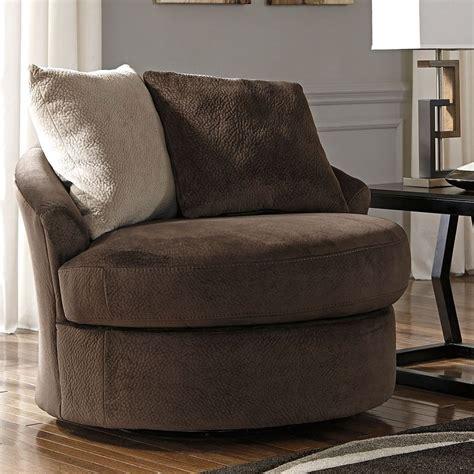 dahlen chocolate swivel accent chair  signature design  ashley furniturepick