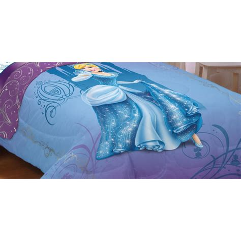 cinderella beds new disney cinderella glamour twin bed comforter blue