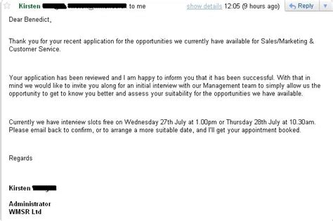 Rejection Letter To Recruiter August 2011 Curriculum Vitae