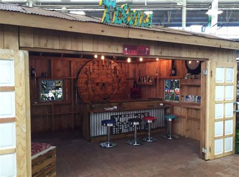 backyard shed man cave pub shed man cave 2016 indy home show landscaping