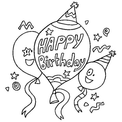 Free Coloring Pages Of Basket With Balloons Birthday Balloons Coloring Pages