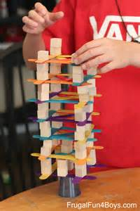 building and design games for kids 4 engineering challenges for kids cups craft sticks and