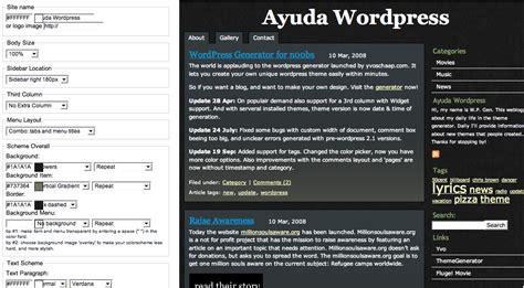 themes generator wordpress generador de plantillas para wordpress