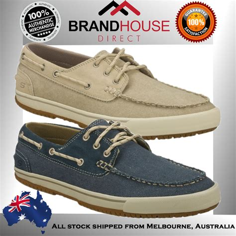 boat shoes ebay australia skechers nimbus olven mens boat casual shoes lace up on