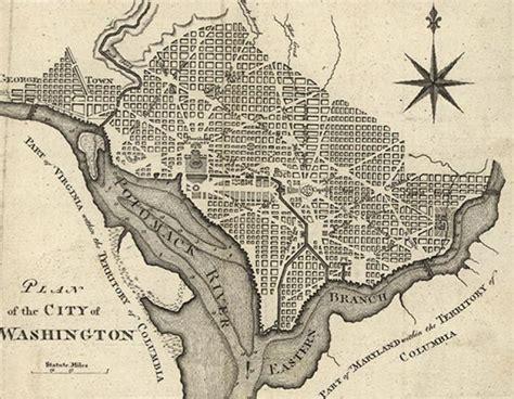washington dc map secret impressions of washington frances few 1808 boundary