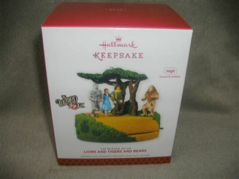hallmark magic ornament 2013 lions and tigers and 17 best images about the wizard of oz collectibles on