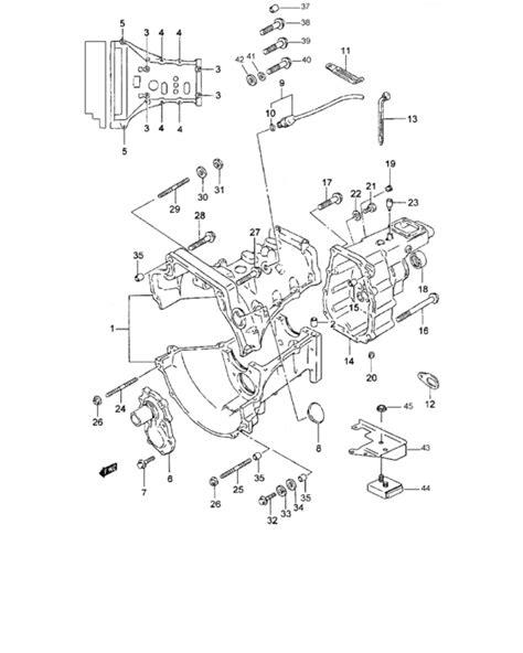 Suzuki Samurai Transfer Diagram Transmission For Suzuki Samurai Sj419td 0 Year