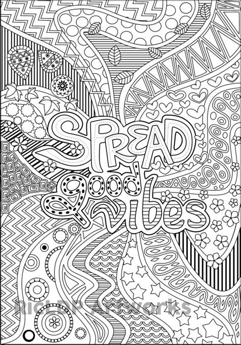 items similar to printable quot spread good vibes quot coloring